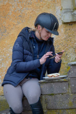 Sausage sandwich and a swipe through social media for Emily King