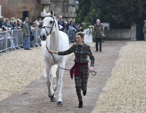 Winner of the Hiho Silver Best Dressed Female Rider, Louisa Milne Home