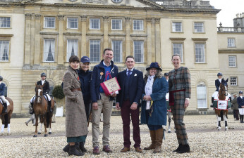 Winners of the Best Dressed Rider, James Summerville and Louisa Milne Home receive awards