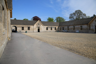 The stables await the arrival of the equine athletes