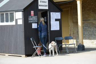 Nicola Wilson checks in at the stable manager