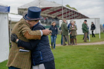 Huge hugs for Pippa Funnell