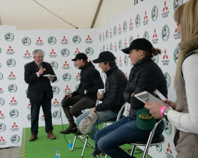 1,2,3.. Our leaders after dressage day one at the press conference