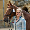 Gorgeous shot of the final pair to present for the ground jury on Sunday morning, Tina Cook and Billy the Red