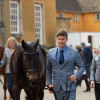 Tom Crisp heading up to present his homebred mare, Liberty and Glory