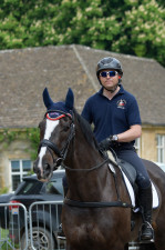 The coolest kids in town! Ben Hobday and Harelaw Wizard head out for a hack