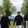Oliver Townend walking the showjumping course with Karyn Shuter