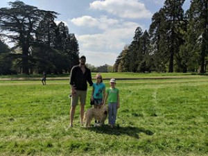 Kate Webb Our Irish soft coated wheaten terrier Sookie's first badminton two years ago