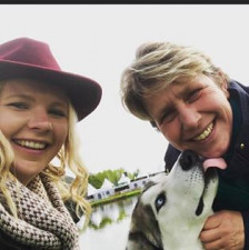 Amberley Pugsley Last year at Badminton Horse Trials first time lakeside with my new puppy of 6months at the time Loki