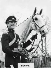 1974 Capt. Mark Phillips on H.M. The Queen's Columbus