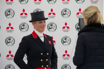 Zara Tindall is interviewed
