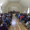 Riders' briefing in Badminton Village Hall