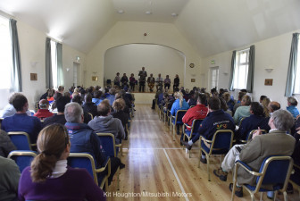 Riders' briefing in Badminton Village Hall