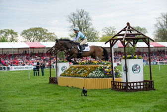 Izzy Taylor (GBR) over the first with KBIS Briarlands Matilda