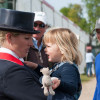 Zara Phillips with daughter Mia, father Mark and brother Peter