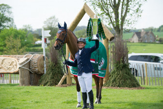 Lifting the Rolex trophy at Badminton 2016