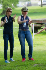 Emily Gilruth walks the course with Ruth Edge