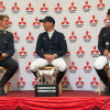 The final three at the Mitsubishi Motors Badminton Horse Trials