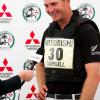 Badminton first timer Jesse Campbell (NZL) interviewed