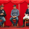 Thursday's top three - Andreas Ostholt (GER), Michael Jung (GER) and Francis Whittington (GBR) at the press conference