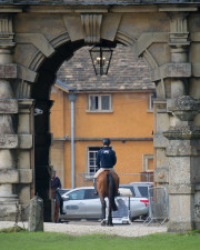 The iconic archway to the stables