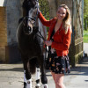Emily King with Brookleigh in outfit no 1 which was changed for one more weather-proof!