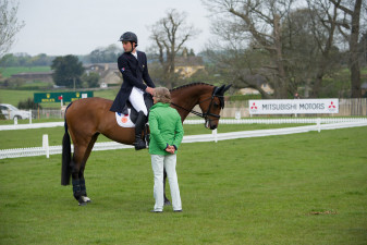 Trainer Annabel Scrimgeour with Astier Nicholas