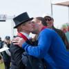 Peter Phillips congratulates his sister Zara Tindall