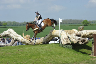 Charles RR and Alicia Hawker on route to completing cross country at their first Badminton