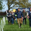Sam Griffiths leading the way on his course walk