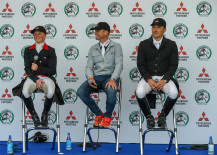 Huge grins from our top three after the first day of dressage