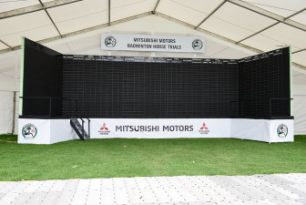 Scoreboard ready to chalk up this year's penalties at the Mitsubishi Motors Badminton Horse Trials 2018