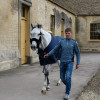 Will Furlong arriving at the stables with Collien P 2 for their first ever Badminton