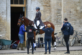 Snapping Sir Charles - Imogen Murray's support team getting a few photos before her test with Ivar Gooden
