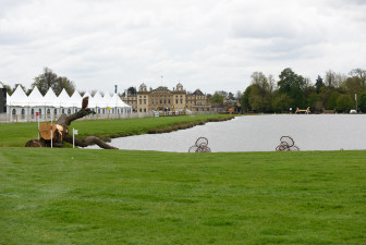 The view across the lake at Mitsubishi Motors Badminton Horse Trials 2018