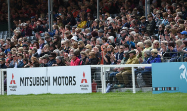 Crowds applauding the action