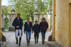 The Nicholson family all set for Nereo's dressage test