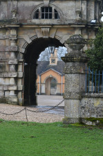 The archway leading to the stables