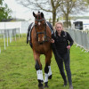 Heading back to the stables after a great test