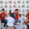 Radio Badminton interviewing Richard Hibbard, Ben Morgan and John Afoa of Gloucester rugby