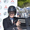Jonelle Price with the Mitsubishi Motors Badminton Horse Trials trophy