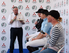 Townend, Price and Canter - The top three take to the media after storming cross country rounds