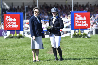 The Princess Royal presents Glentrool Trophy to Imogen Murray GBR for the Horse & Rider who have made greatest improvement on their dressage placing