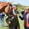 Andrew Nicholson being interviewed by Clare Balding after announcing the retirement of 2017 winner, Nereo
