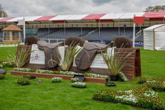 Last fence at Mitsubishi Motors Badminton Horse Trials 2018