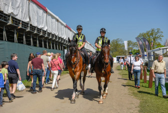 The mounted police make a lovely sight around the grounds