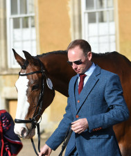 Michael Owen and Bradeley Law looking sharp as they head through the stable yard