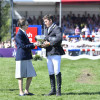 The Princess Royal presents Laurence Rook Trophy for the best British Rider completing for the first time to Tom Crisp
