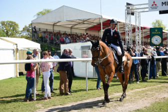 Oliver Townend leaving the arena after a clear round with 4* first-timer, Cooley SRS