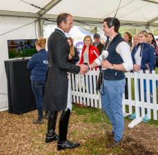 Hearty handshake, as Ben Way congratulates Jonty Evans on his test
